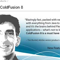 ColdFusion 8 Product Page