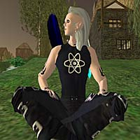 Megaus Gasparini (aka CannedTuna) relaxes in Second Life
