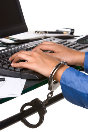 Contractor Chained to Desk