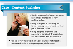 Persona of Cate the Content Publisher