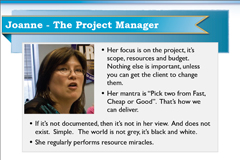 Persona of Joanne the Web Agency Project Manager