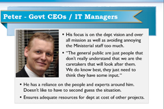 Persona of Peter the Govt CEO
