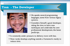 Persona for Tran the Developer